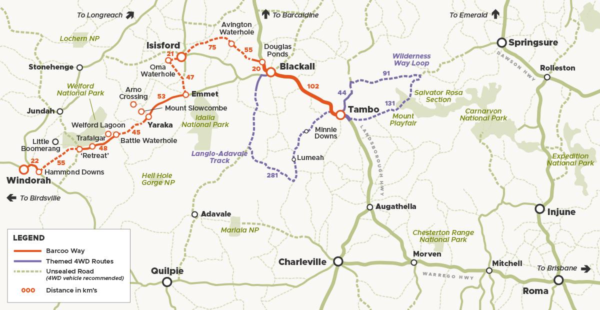 Barcoo Way Map